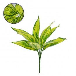 Τεχνητό Φυτό Διακοσμητικό Μπουκέτο Αγλαόνημα Κίτρινο - Πράσινο M30cm x Υ30cm Π30cm με 6 Κλαδάκια GloboStar 09089