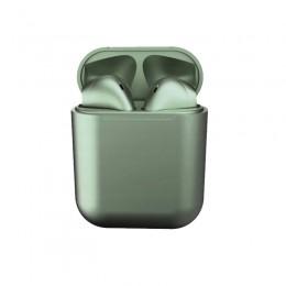 Ασύρματα Ακουστικά Bluetooth με Βάση Φόρτισης i12 TWS Χρώματος Πράσινο SPM I12-Green