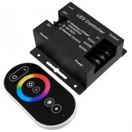 GloboStar® 73406 Ασύρματος LED RGB Controller με Χειριστήριο Αφής 2.4G RF 12v (216w) - 24v (432w) DC
