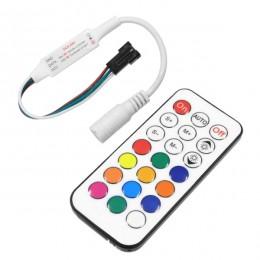 GloboStar 73441 Ασύρματος LED Mini Dream-Color Magic Digital RGBW Controller με Χειριστήριο RF 21 Keys για LED Digital RGBW Προϊόντα 5v - 12v - 24v 2048 IC