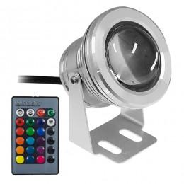 GloboStar® 75592 Προβολέας LED Κήπου 10W 12V 500lm 35° Αδιάβροχο IP68 με Ασύρματο Χειριστήριο RGB