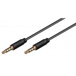 GOOBAY καλώδιο ήχου 3.5mm 63828, 4 pin stereo, copper, 1.5m, μαύρο