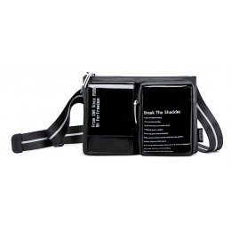 SUPER FIVE τσάντα ώμου XB00118-BK, μαύρη
