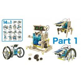 Εκπαιδευτικό robot kit AG211B, 14 σε 1, Ηλιακό