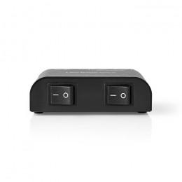 NEDIS ASWI2602BK Speaker Control Box 2-Way Terminal Clamp Black
