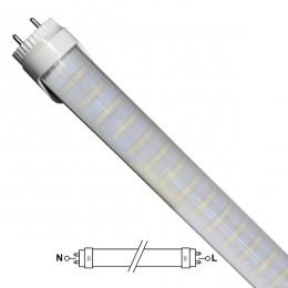GloboStar® 76186 Λάμπα LED Τύπου Φθορίου T8 Αλουμινίου Τροφοδοσίας Δύο Άκρων 150cm 25W 230V 2400lm 180° με Καθαρό Κάλυμμα Ψυχρό Λευκό 6000k