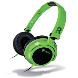 MELICONI MYSOUND SPEAK SMART FLUO GREEN-BLACK ON-EAR STEREO HEADSET (WITH MICROP