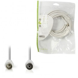 NEDIS CSGP40000WT50 Coax Cable 90dB IEC (Coax) Male - IEC (Coax) Female 5.0 m Wh
