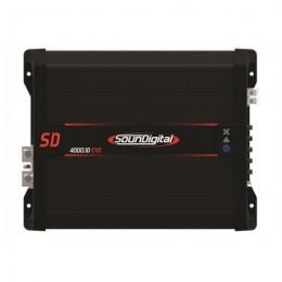 Soundigital SD4000.1D EVO Μονοκάναλος ενισχυτής με συνολική ισχύ 5224 Watt RMS στα 14,4 @ 1Ω