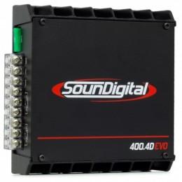 SounDigital SD400.4D Evo Τετρακάναλος Ενισχυτής 4 x 100Watt RMS/2Ω (Class D)