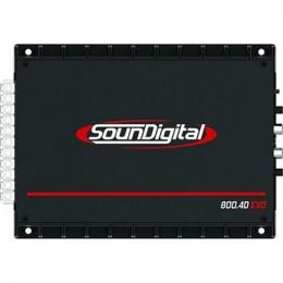 Soundigital SD800.4D EVO Τετρακάναλος ενισχυτης με συνολική 800W RMS