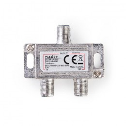 NEDIS SCOM100ME Satellite Combiner 2 to 1 F-Connector VHF/UHF: 5 - 860 MHz Satel