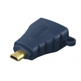 CABLETIME αντάπτορας Micro HDMI D σε HDMI AV599, with Ring, 4K, μπλε