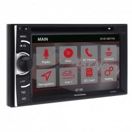 "Macrom M-DVD4000 2 DIN Οθόνη Multimedia 6.2"" WVGA Με DVD/USB/SD & Bluetooth"