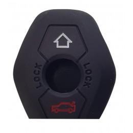 Θήκη κλειδιού για αυτοκίνητα BMW 1004-03, εύκαμπτη, μαύρη