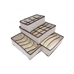 Σετ Κουτιά Αποθήκευσης για Εσώρουχα και Κάλτσες 4 τμχ Hoppline HOP1000367-1