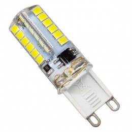 GloboStar® 76150 Λάμπα G9 LED SMD 2835 4W 360lm 320° AC 230V Σιλικόνης Ψυχρό Λευκό 6000K