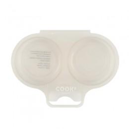Διπλή Συσκευή Μαγειρέματος Αυγών για Φούρνο Μικροκυμάτων Χρώματος Taupe Cook Concept KC2152