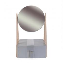 Ξύλινη Κοσμηματοθήκη - Μπιζουτιέρα με Καθρέπτη 29 x 16 x 17.5 cm Home Deco Factory HD2300