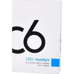 h7 c6 Autoline H7 LED Headlights C6 12V / 24V 2τμχ 14210