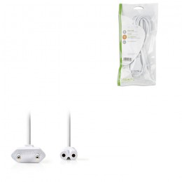 NEDIS PCGP11040WT20 Power Cable Euro Plug - IEC-320-C7 2.0 m White