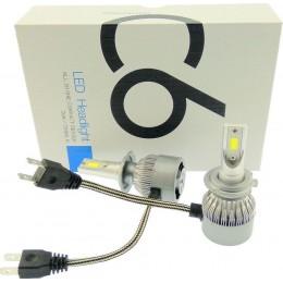 2 X 36W H7 LED 12V/24V C6 (72W 7600LM) 6000K IP67 PROTECTED COB OEM