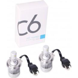 Φώτα Αυτοκινήτου LED Kit H4 36W 3800LM 6000Κ – C6