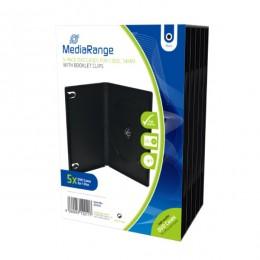 MediaRange DVD Case  for 1 Disc 14mm Black  (5 Pack) (MRBOX30)