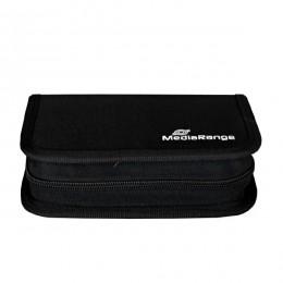 MediaRange Media Storage Wallet for 6 USB Flashdrives & 3 SD Memory Cards Nylon Black (MRBOX98)