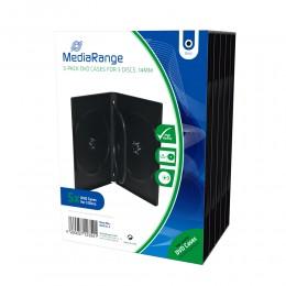 MediaRange DVD Case for 3 discs 14mm Black Pack 5 (MRBOX35-3)
