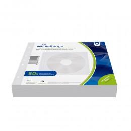 MediaRange Fleece sleeves for 2 discs White Pack 50 (MRBOX60)