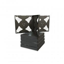 MediaRange CD Jewelcase for 6 discs, 22mm, black tray (MRBOX34-6-50)