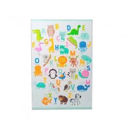 Παιδικό Χαλί με Μοτίβο Ζώα και Γράμματα 130 x 180 cm Hoppline HOP1001235-3
