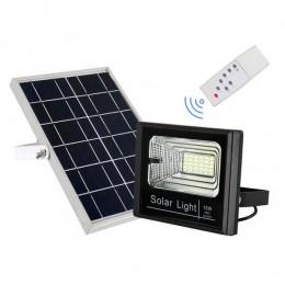 Αυτόνομος Ηλιακός Φωτοβολταϊκός Προβολέας LED 10W 600lm 180° Αδιάβροχος IP65 με Αισθητήρα Κίνησης Ψυχρό Λευκό 6000k GloboStar 12101
